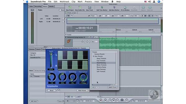 Tremolo: Soundtrack Pro Audio Filters