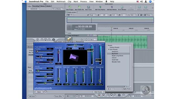 PlatinumVerb: Soundtrack Pro Audio Filters