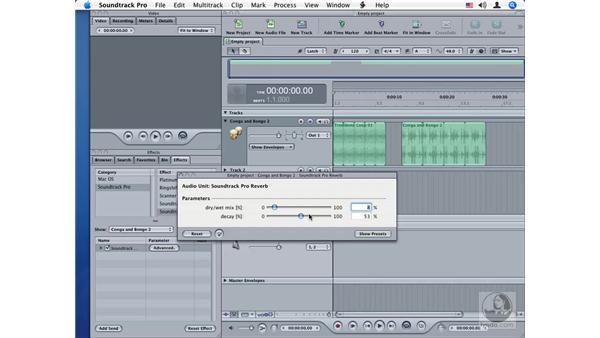 Soundtrack Pro Reverb: Soundtrack Pro Audio Filters