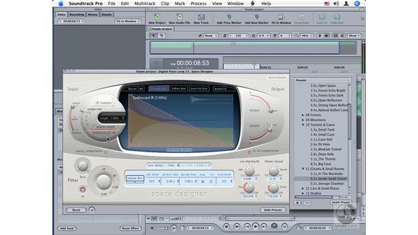 Space Designer: Soundtrack Pro Audio Filters