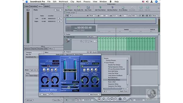 Stereo Delay: Soundtrack Pro Audio Filters