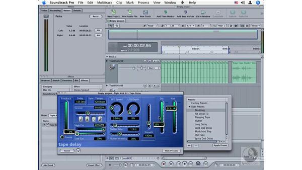 Tape Delay: Soundtrack Pro Audio Filters