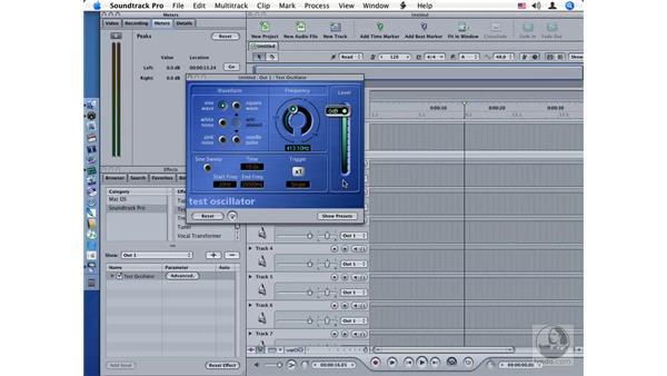 Test Oscillator: Soundtrack Pro Audio Filters