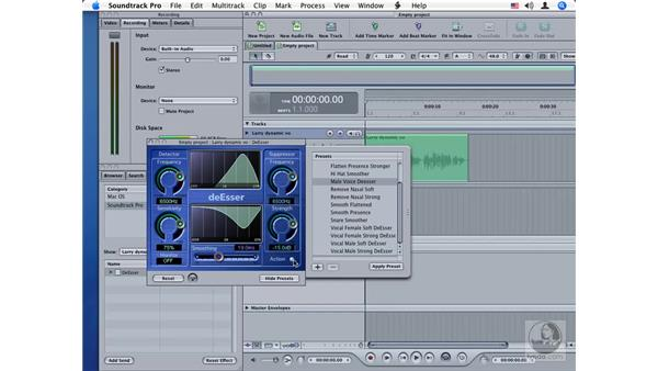 DeEsser: Soundtrack Pro Audio Filters