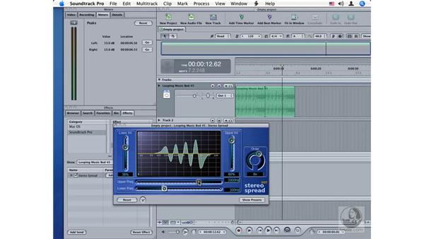 Stereo Spread: Soundtrack Pro Audio Filters