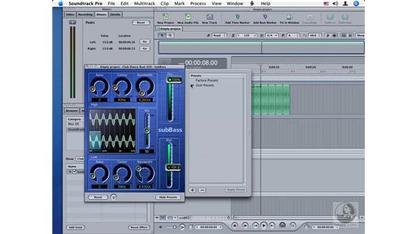 SubBass: Soundtrack Pro Audio Filters