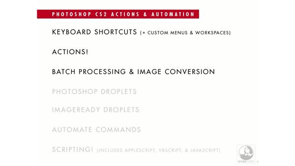 Varieties of automation: Photoshop CS2 Actions and Automation