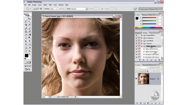 Deleting sets and actions: Photoshop CS2 Actions and Automation