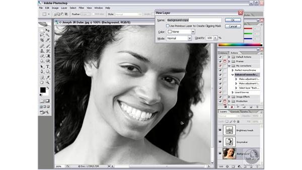 Adding steps to an action: Photoshop CS2 Actions and Automation