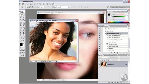 Testing your action and accounting for resolution: Photoshop CS2 Actions and Automation