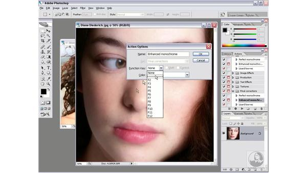 Assigning shortcuts: Photoshop CS2 Actions and Automation