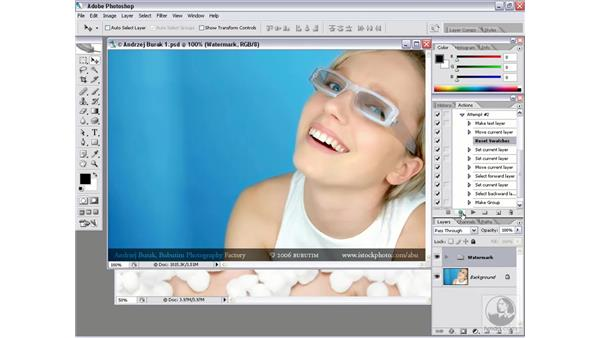 Real-world action 1.3: Resizing the watermark: Photoshop CS2 Actions and Automation