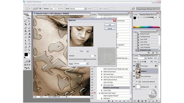 Real-world action 4.5: Reflectivity and distortion: Photoshop CS2 Actions and Automation