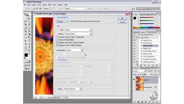 Making a Droplet: Photoshop CS2 Actions and Automation