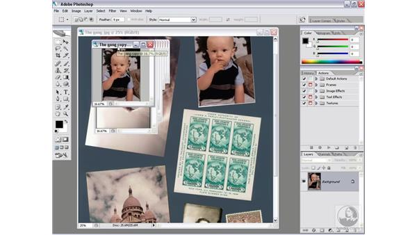 Crop and Straighten Photos: Photoshop CS2 Actions and Automation