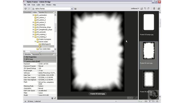 Real-world script 7.1: How alpha frames work: Photoshop CS2 Actions and Automation