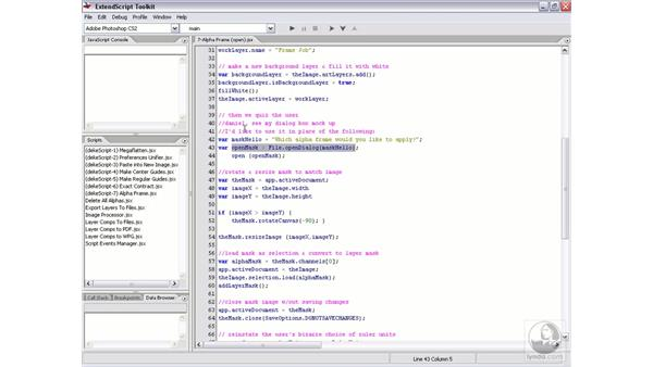 Real-world script 7.2: The alpha frames script: Photoshop CS2 Actions and Automation