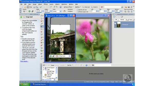 Cropping photos: Getting Started with Corel Paint Shop Pro Photo XI