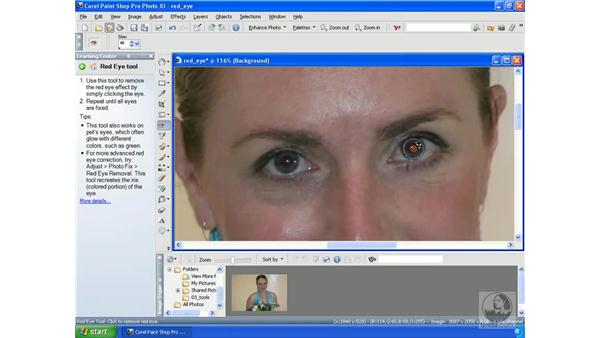 Repairing red-eye: Getting Started with Corel Paint Shop Pro Photo XI