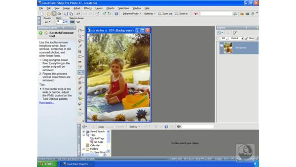 Removing scratches: Getting Started with Corel Paint Shop Pro Photo XI