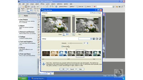 Using the Time Machine: Getting Started with Corel Paint Shop Pro Photo XI