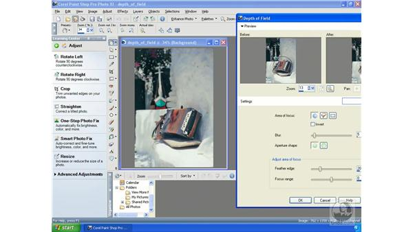 Using the Depth of Field: Getting Started with Corel Paint Shop Pro Photo XI