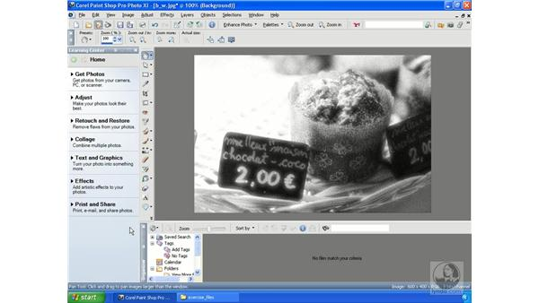 Creating black and white: Getting Started with Corel Paint Shop Pro Photo XI