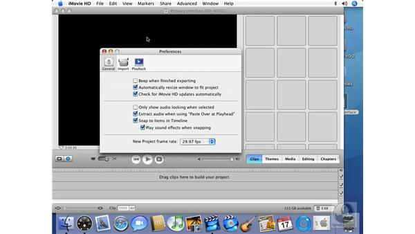 Essential preferences: iMovie HD 6 + iDVD 6 Essential Training