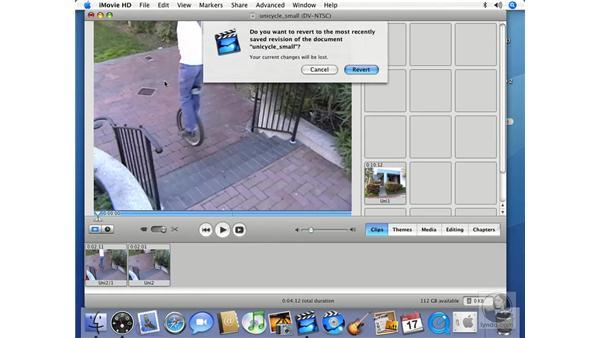 Undoing and reverting: iMovie HD 6 + iDVD 6 Essential Training