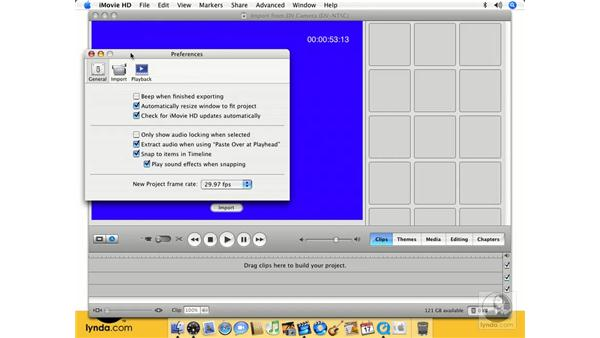 Importing video from a DV camera: iMovie HD 6 + iDVD 6 Essential Training