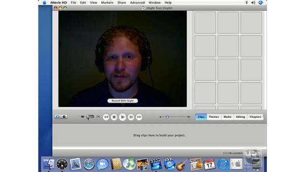importing video from an iSight camera: iMovie HD 6 + iDVD 6 Essential Training