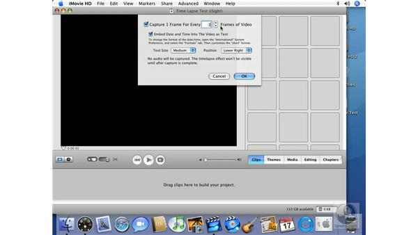 Importing time-lapse video: iMovie HD 6 + iDVD 6 Essential Training