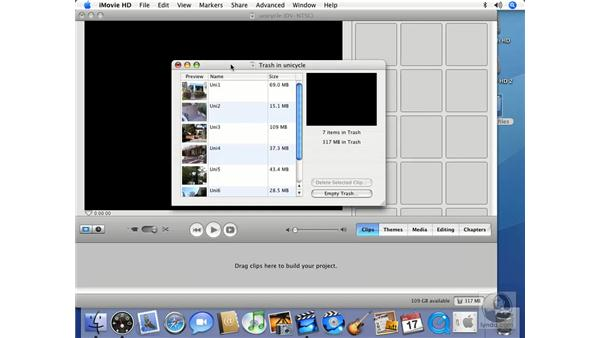 Using the Timeline as a storyboard: iMovie HD 6 + iDVD 6 Essential Training