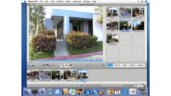 Working in Clip view: iMovie HD 6 + iDVD 6 Essential Training