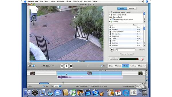 Working in Timeline view: iMovie HD 6 + iDVD 6 Essential Training