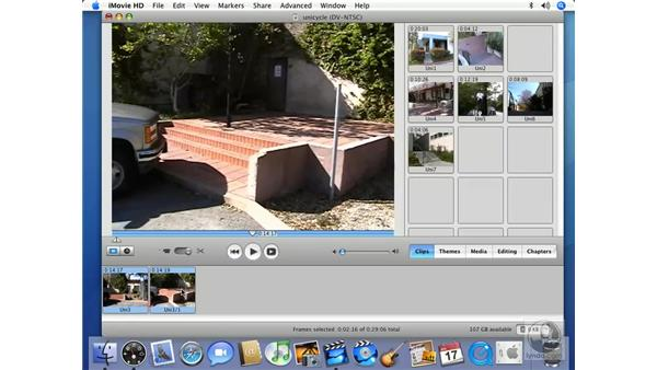 Highlighting footage: iMovie HD 6 + iDVD 6 Essential Training