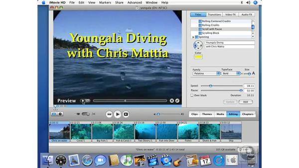 Adding titles: iMovie HD 6 + iDVD 6 Essential Training