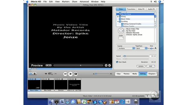 Title tour: iMovie HD 6 + iDVD 6 Essential Training