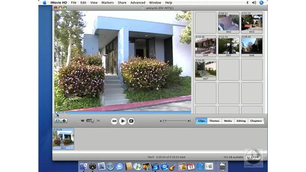 Taking video stills: iMovie HD 6 + iDVD 6 Essential Training