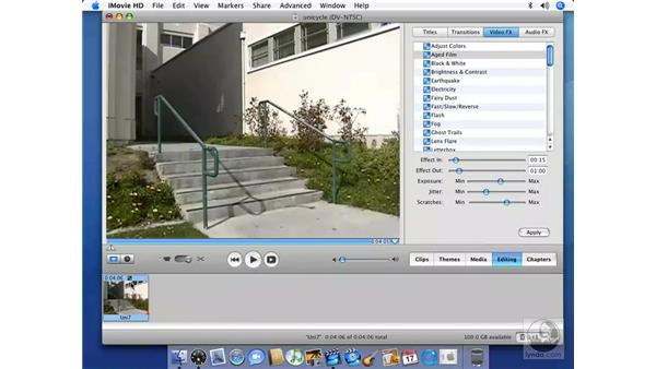 What are video FX and when do you use them?: iMovie HD 6 + iDVD 6 Essential Training