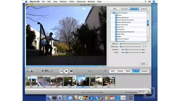 Controlling Video FX: iMovie HD 6 + iDVD 6 Essential Training