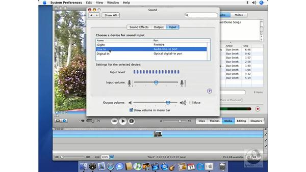 Recording narration: iMovie HD 6 + iDVD 6 Essential Training