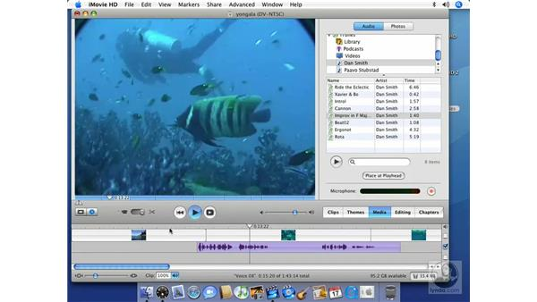 Editing with audio: iMovie HD 6 + iDVD 6 Essential Training