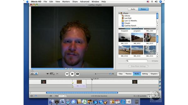 Overlaying video onto audio: iMovie HD 6 + iDVD 6 Essential Training