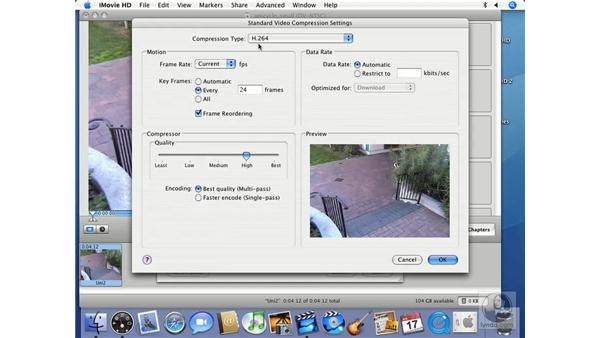 QuickTime expert settings pt.1: iMovie HD 6 + iDVD 6 Essential Training