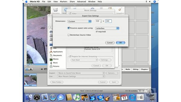 QuickTime expert settings pt.2: iMovie HD 6 + iDVD 6 Essential Training