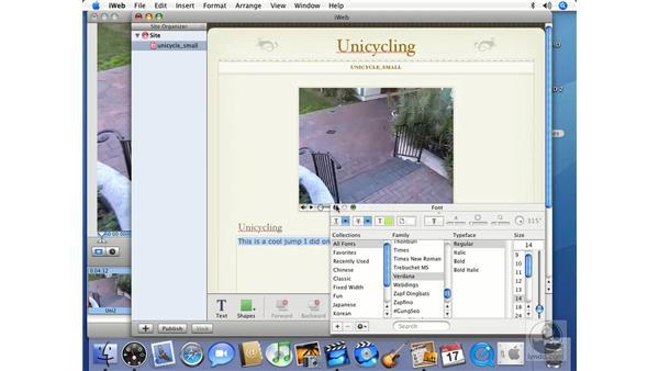 iWeb: iMovie HD 6 + iDVD 6 Essential Training