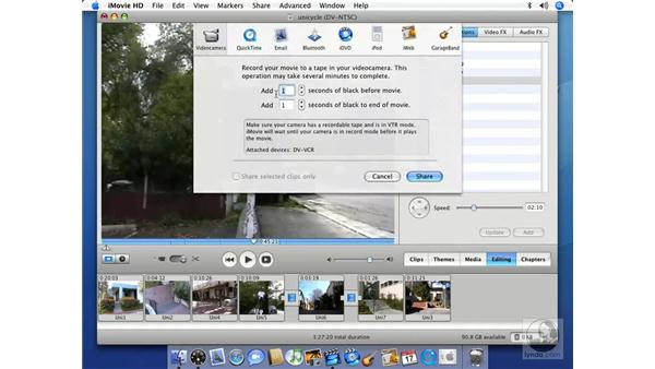 Video cameras: iMovie HD 6 + iDVD 6 Essential Training