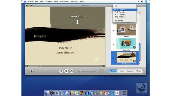 The iDVD interface: iMovie HD 6 + iDVD 6 Essential Training