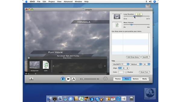 Modifying backgrounds with audio and images: iMovie HD 6 + iDVD 6 Essential Training